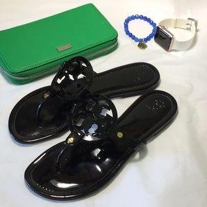 Tory Burch black patent size 10 1/2 sandal